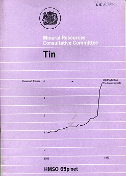 [USED] Mineral Resources Consultative Committee: Mineral Dossier No 9: Tin
