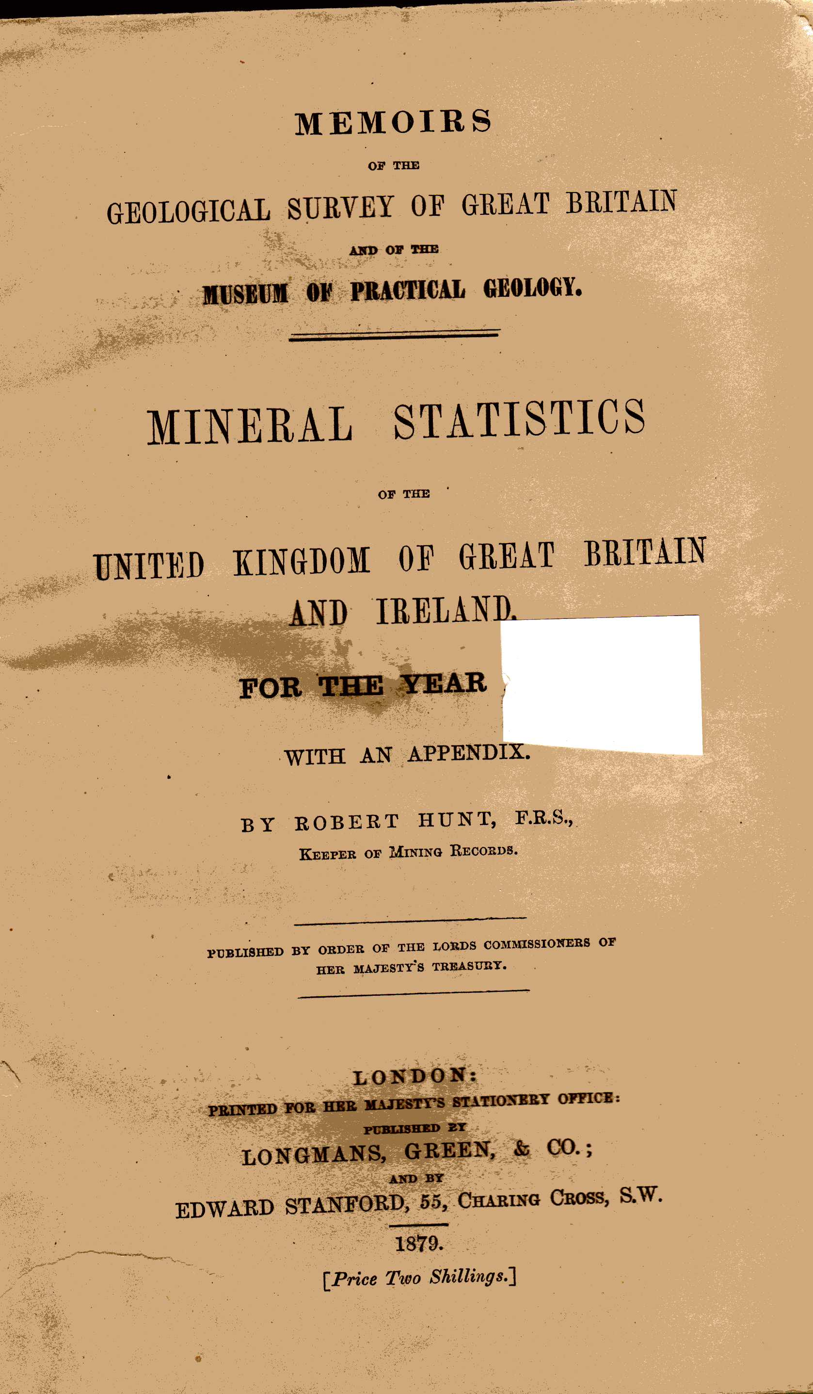 Geological Survey of Great Briitain - Mineral Statistics of the United Kingdom and Ireland for 1867