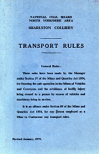 [USED] Sharlston Colliery Transport Rules