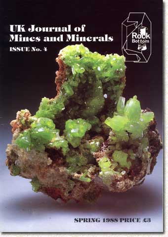 [USED] UK Journal of Mines and Minerals Issue No 4 Spring 1988