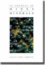 [USED] UK Journal of Mines and Minerals Issue No 9 spring Summer 1991