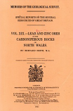[USED] Volume XIX - Lead and Zinc Ores in the Carboniferous Rocks of North Wales